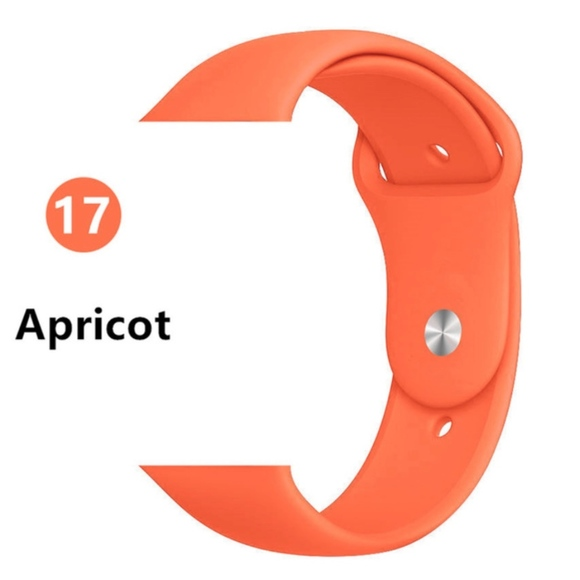 NEW APRICOT Sport Silicone Band Apple Watch